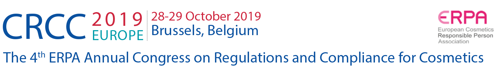 The 3rd International Congress on European Regulations and Compliance for Cosmetics (CRCC2018)